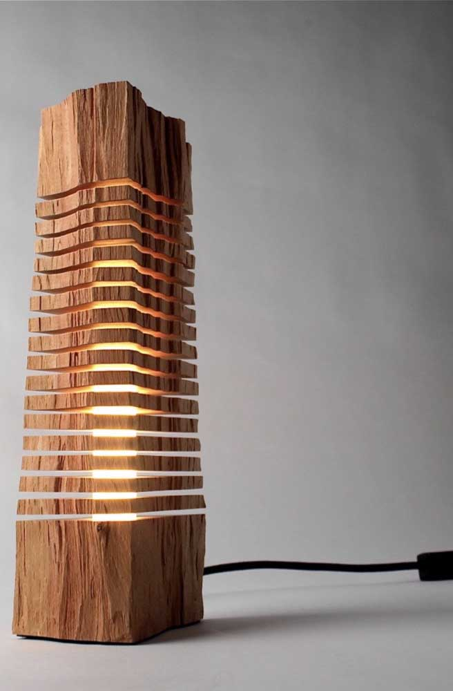 O que você acha desse modelo de luminária de madeira?