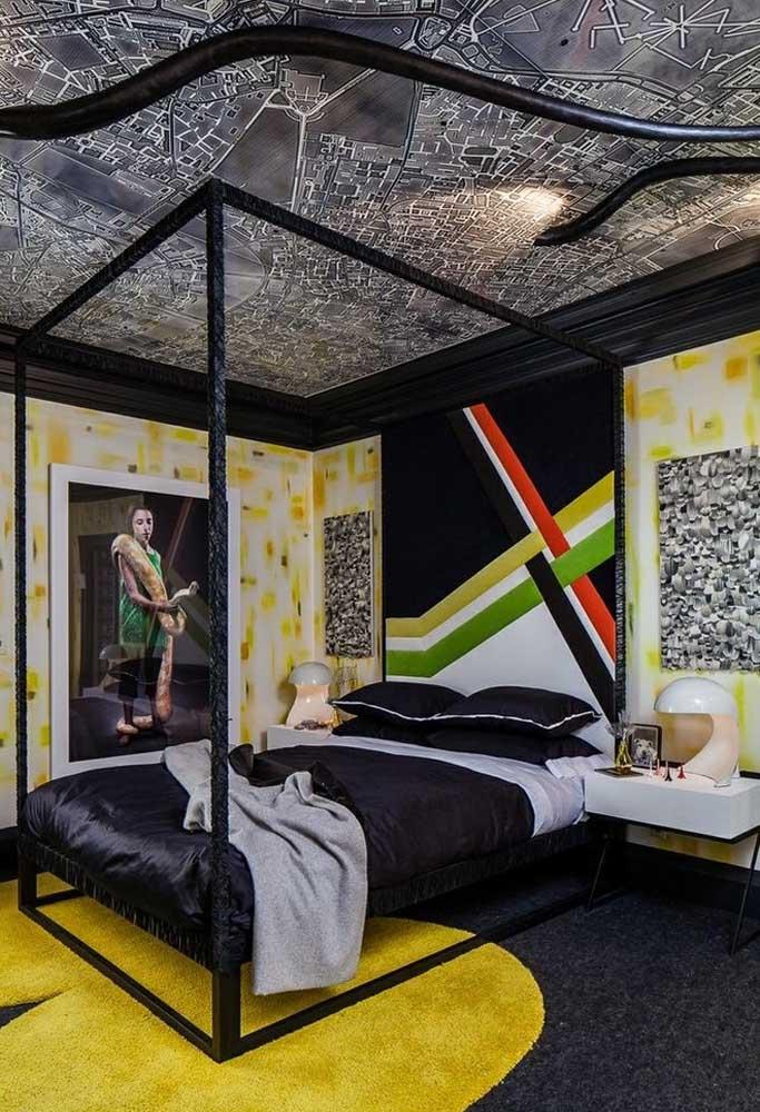 Se a intenção é fazer algo bem mais ousado, use uma textura totalmente diferente no teto, outra nas paredes e no piso. O importante é que o lugar esteja combinando com a personalidade do adolescente.
