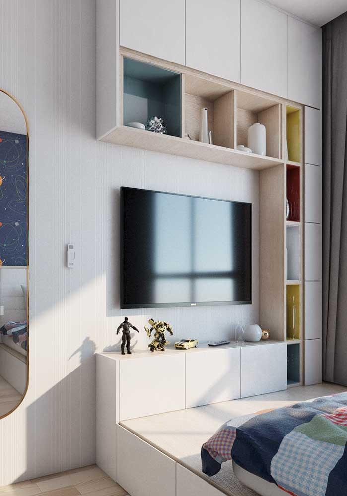 Em uma decoração mais simples você consegue valorizar os móveis que compõem o ambiente