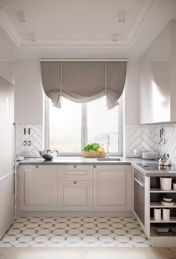 Se é uma cozinha clean que você quer, então aposte no uso de revestimentos brancos
