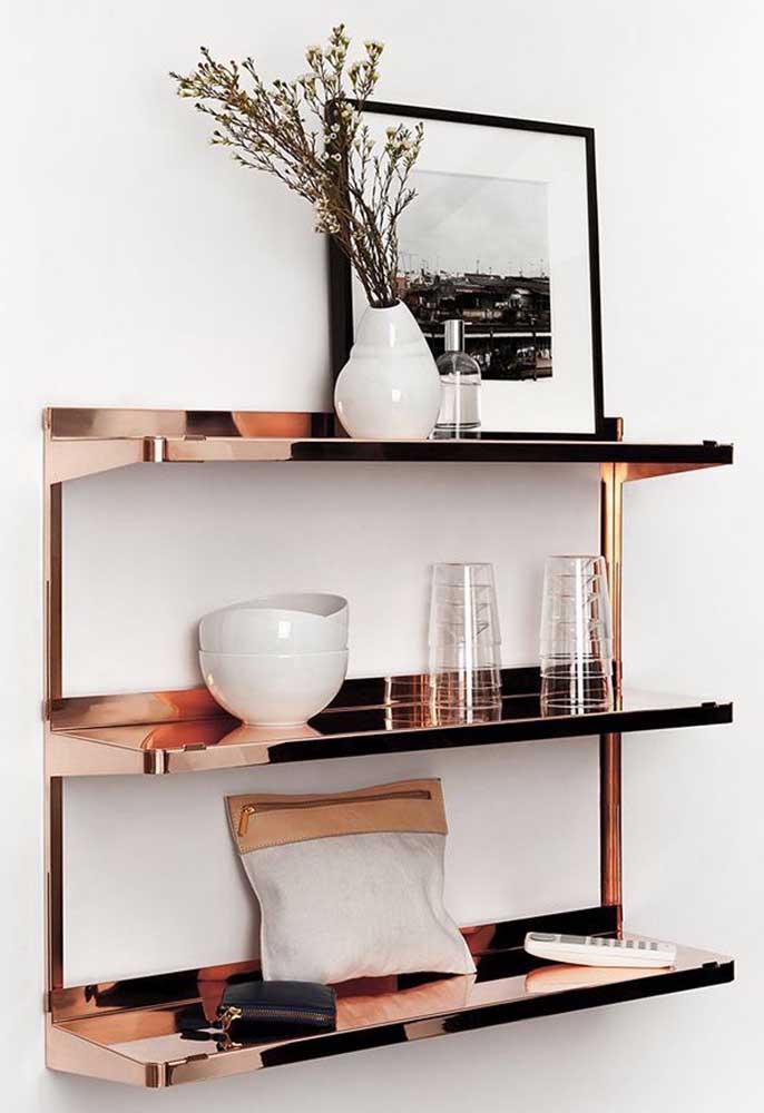 Invista em objetos sofisticados na hora de decorar a sua sala