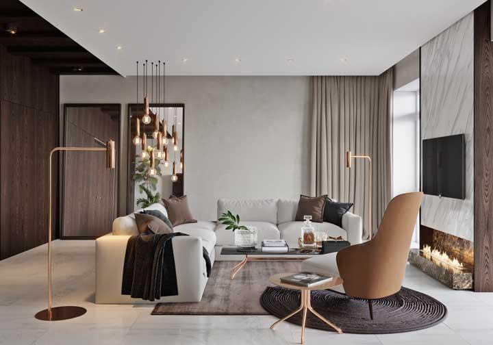 Quer fazer uma decoração mais luxuosa? Aposte na cor rosé gold na hora de escolher alguns elementos do ambiente