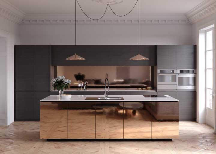 Surpreenda seus convidados com esse lindo balcão na sua cozinha