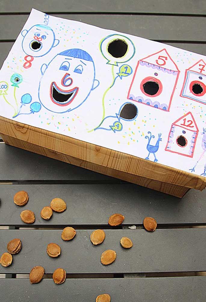 Mais brincadeiras para as crianças se divertirem.