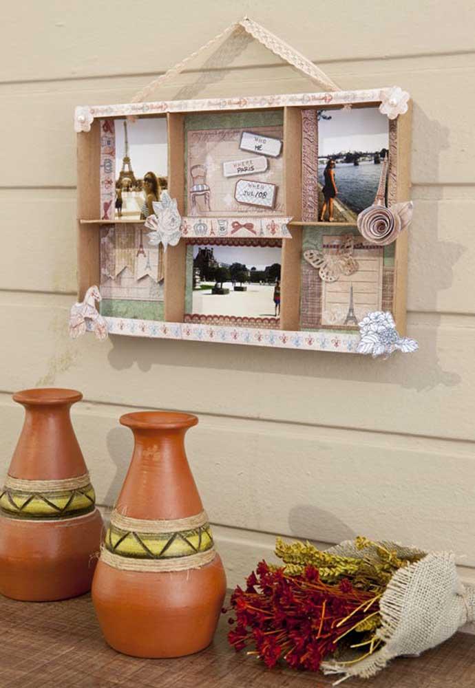 Que tal fazer um belo item de decoração para colocar na parede da sua casa, destacando suas melhores fotos.