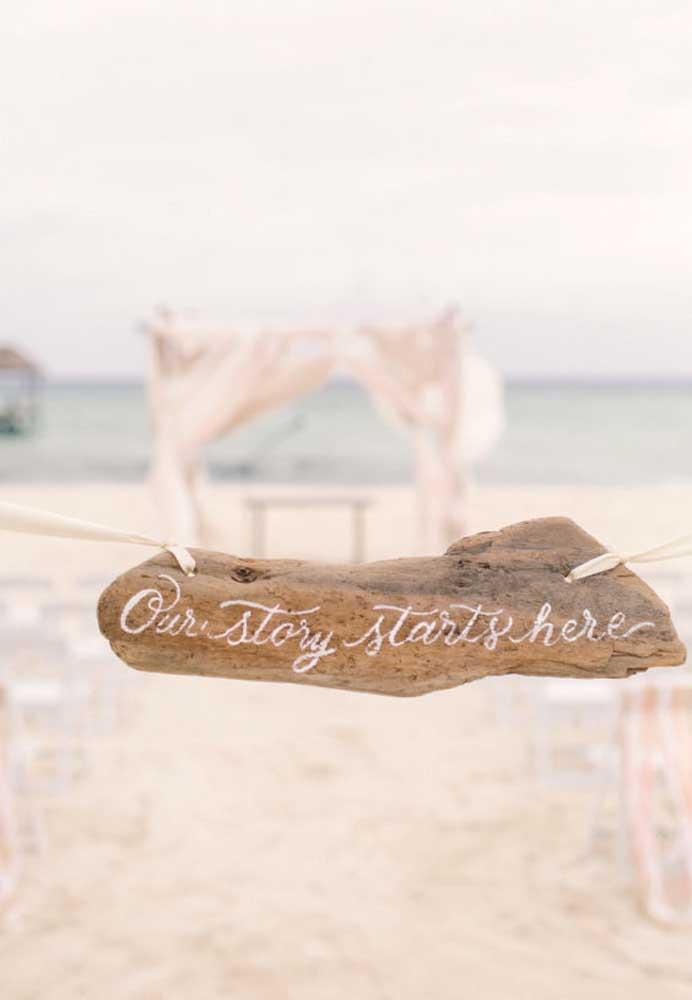 Os pequenos detalhes fazem grande diferença na decoração, principalmente, no caso do casamento na praia.