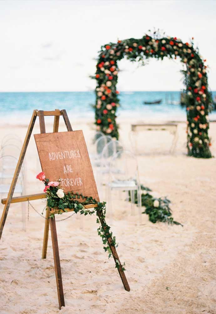 Use e abuse de placas divertidas, românticas e inspiradoras.