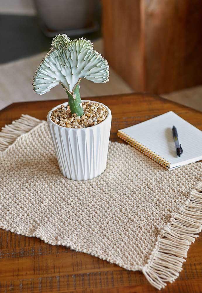 Os centros de mesa também podem ser feitos no formato de um tapete.