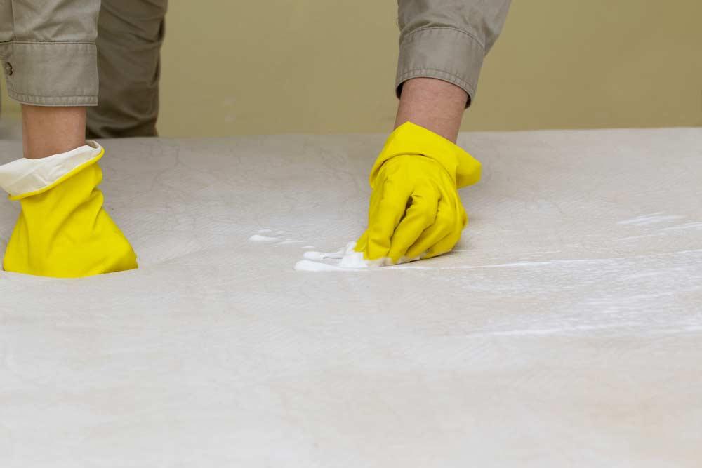 Como limpar colchão com bicarbonato / conceito