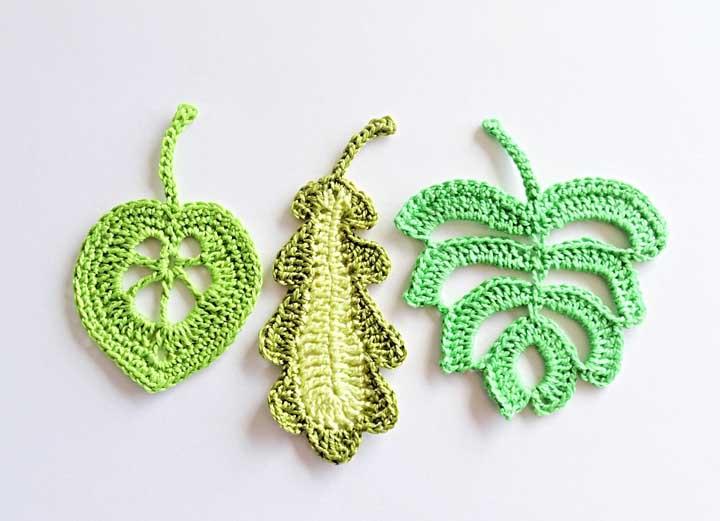 Qual formato de folha de crochê você prefere?