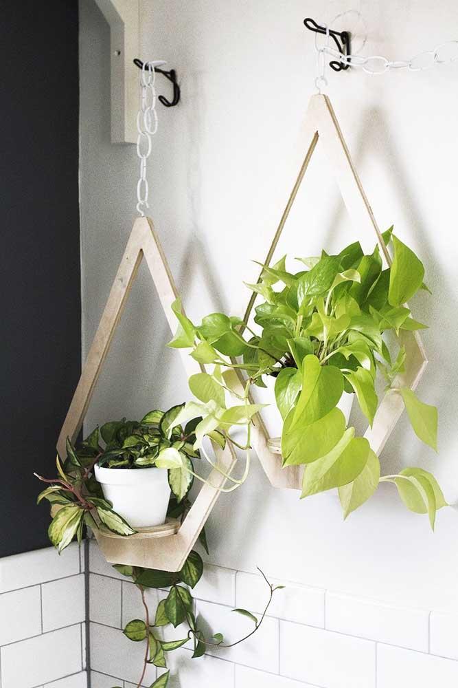 Em um jardim suspenso, os suportes são tão importantes, quanto as plantas