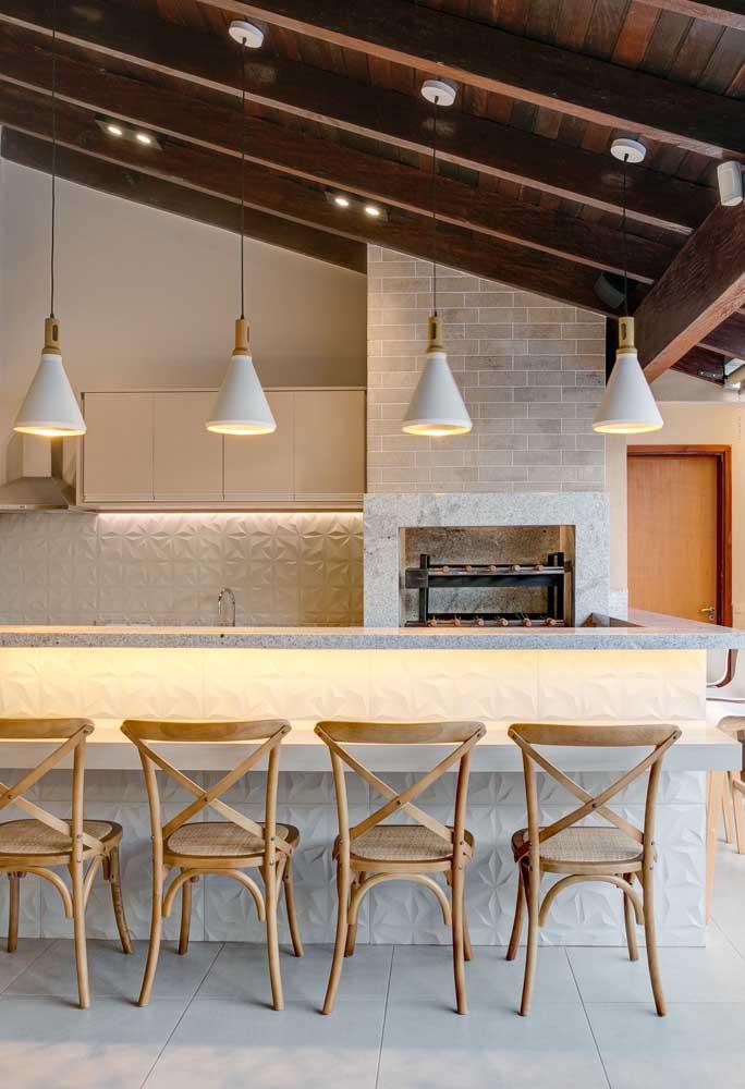 Para os tradicionais, um modelo clássico de churrasqueira de alvenaria para se inspirar