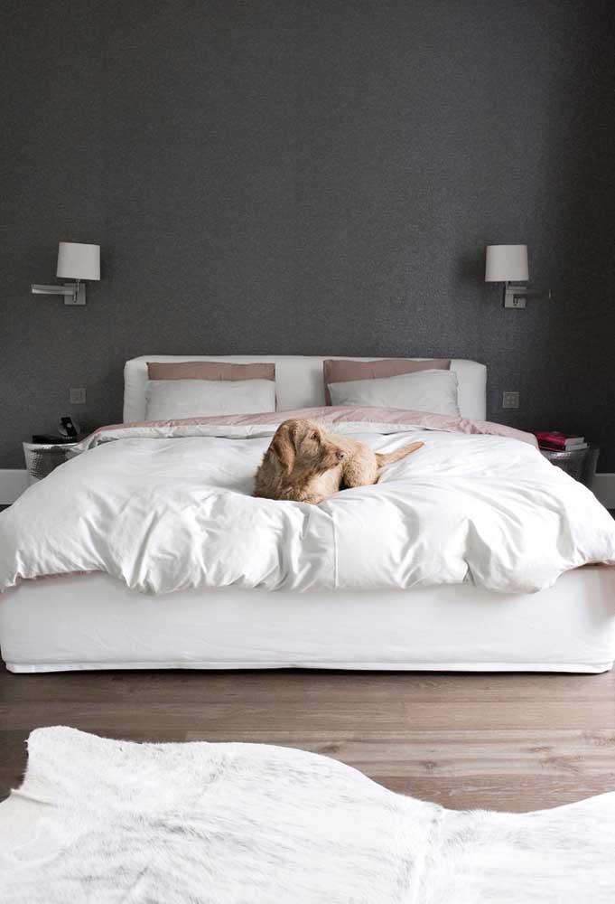 Para deixar o quarto mais leve, use tons mais suaves da cor preta.