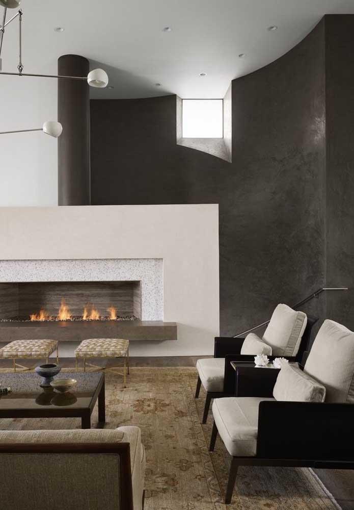 Misturar cores claras com escuras é ótimo para criar um equilíbrio no ambiente da casa.