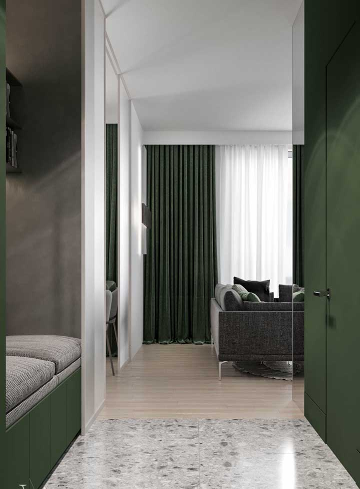 O verde é uma cor que acalma e você pode usá-lo para fazer a decoração da sua sala.