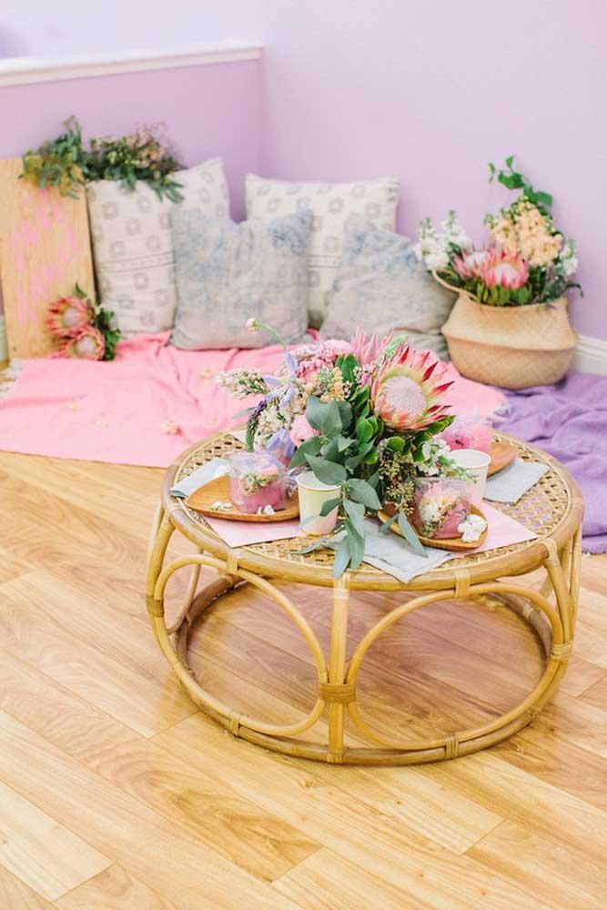 Reserve um espaço aconchegante para seus convidados ficarem mais à vontade.