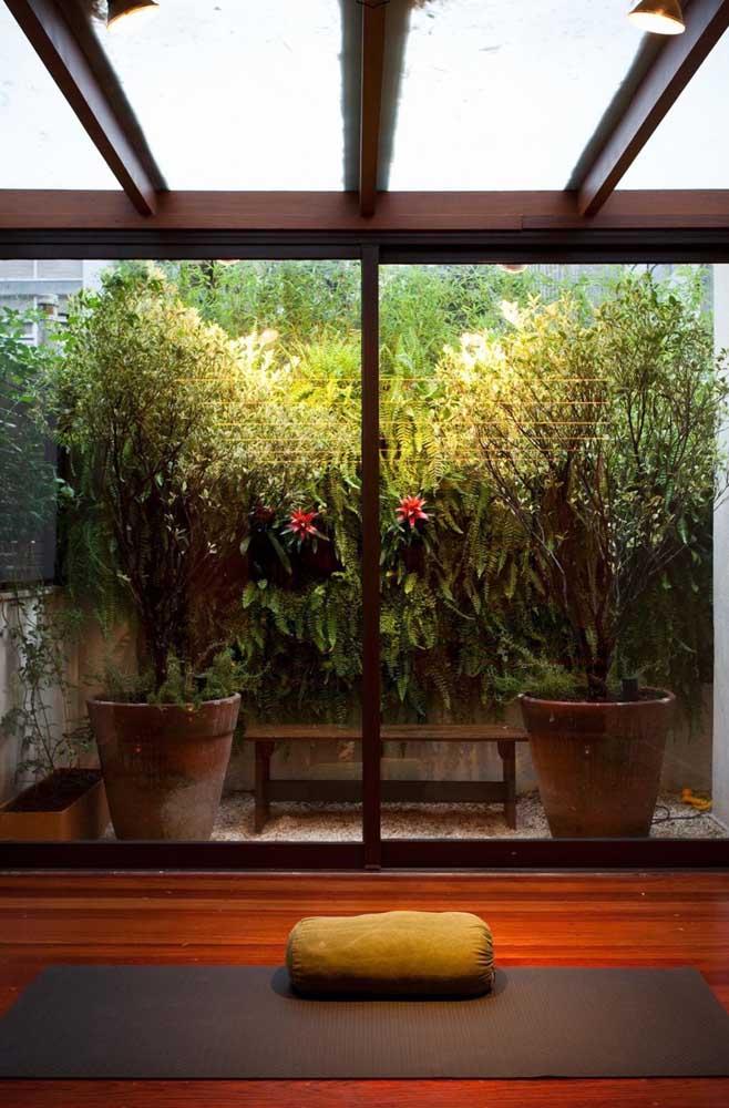 Você pode usar somente plantas altas e cheias que chamam bastante atenção.