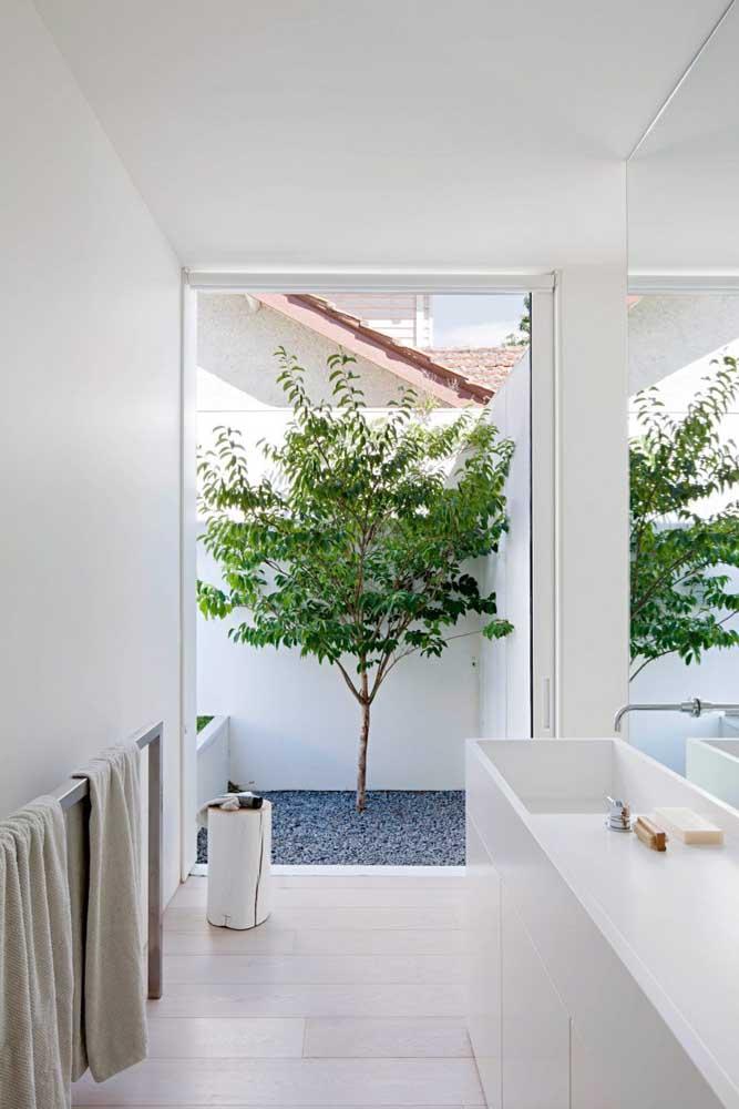 Se o espaço for pequeno, não desanime. Dá para fazer um pequeno jardim com apenas um tipo de planta.