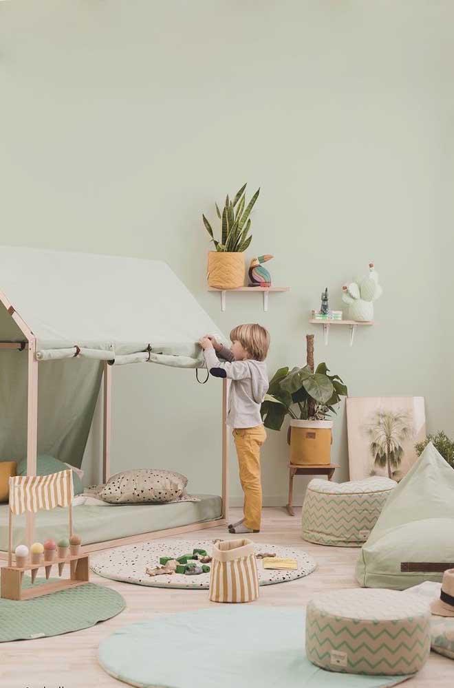 Plantas também completam a proposta Montessori, cuidado apenas para não levar espécies venenosas para o quarto