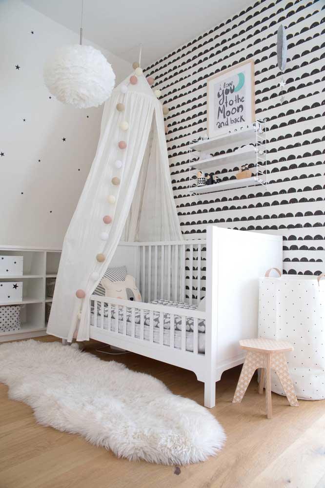 E o que acha de um quarto montessoriano preto e branco?