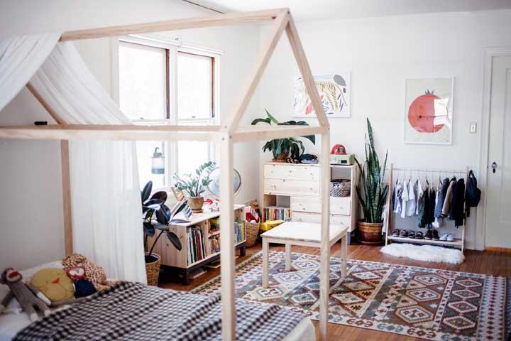 Inspiração boho para o quarto montessoriano, charmoso não?