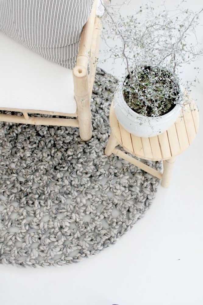 Tapete de crochê: um aconchego para os pés