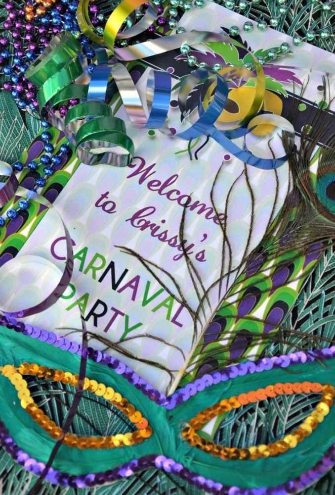 Serpentina, máscaras e outros itens fazem realmente diferença na hora de fazer uma decoração de carnaval.