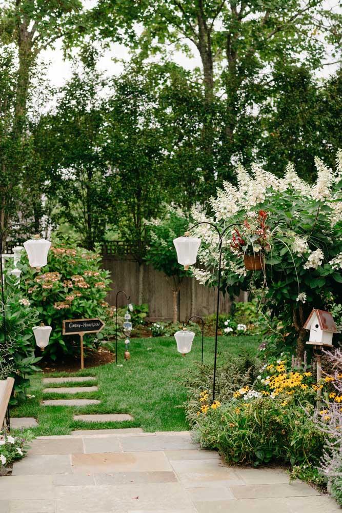 Um jardim pequeno, mas que mora nos sonhos de muita gente