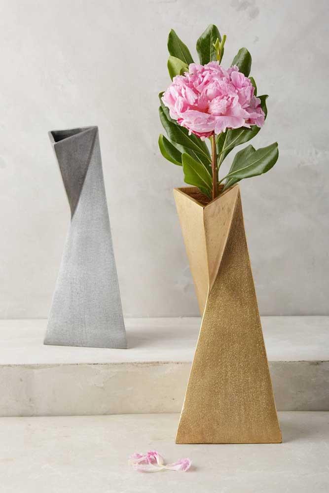 Um modelo de vaso moderno e elegante