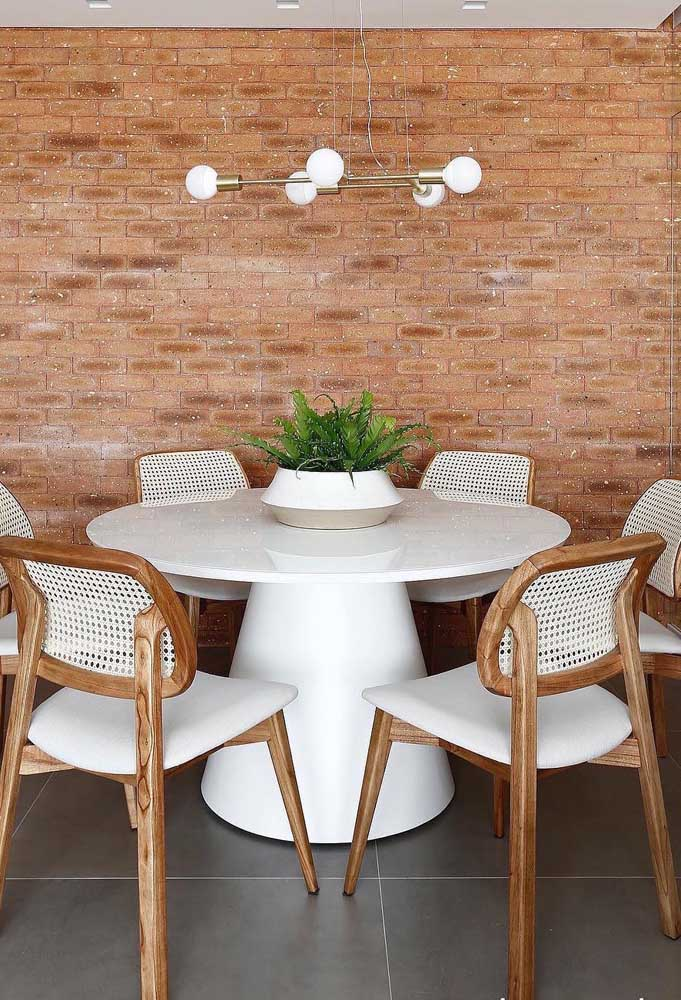 Vaso decorativo para mesa de jantar de estilo rústico