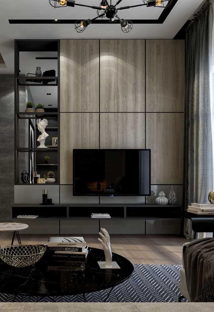 Não exagere na quantidade de itens sobre o aparador, especialmente em decorações de estilo moderno