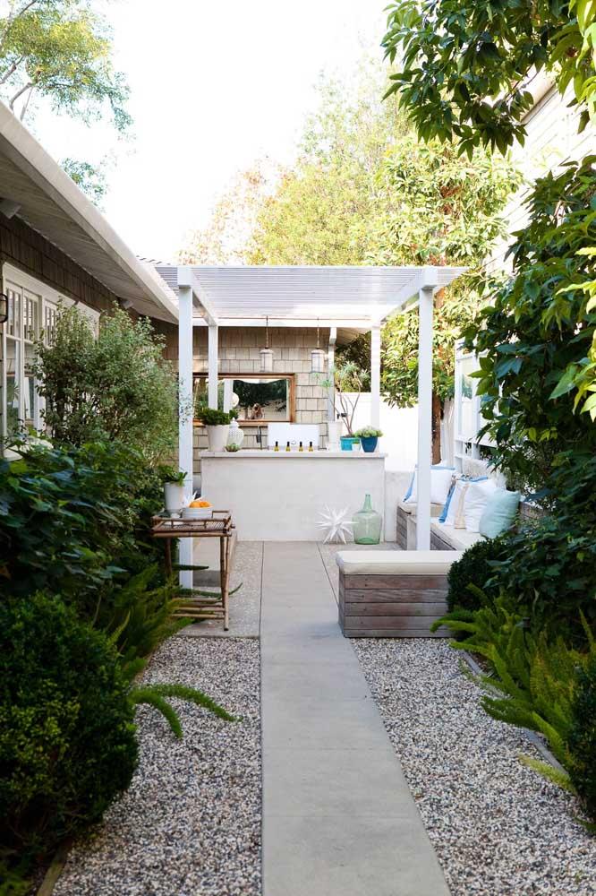 Área gourmet no jardim