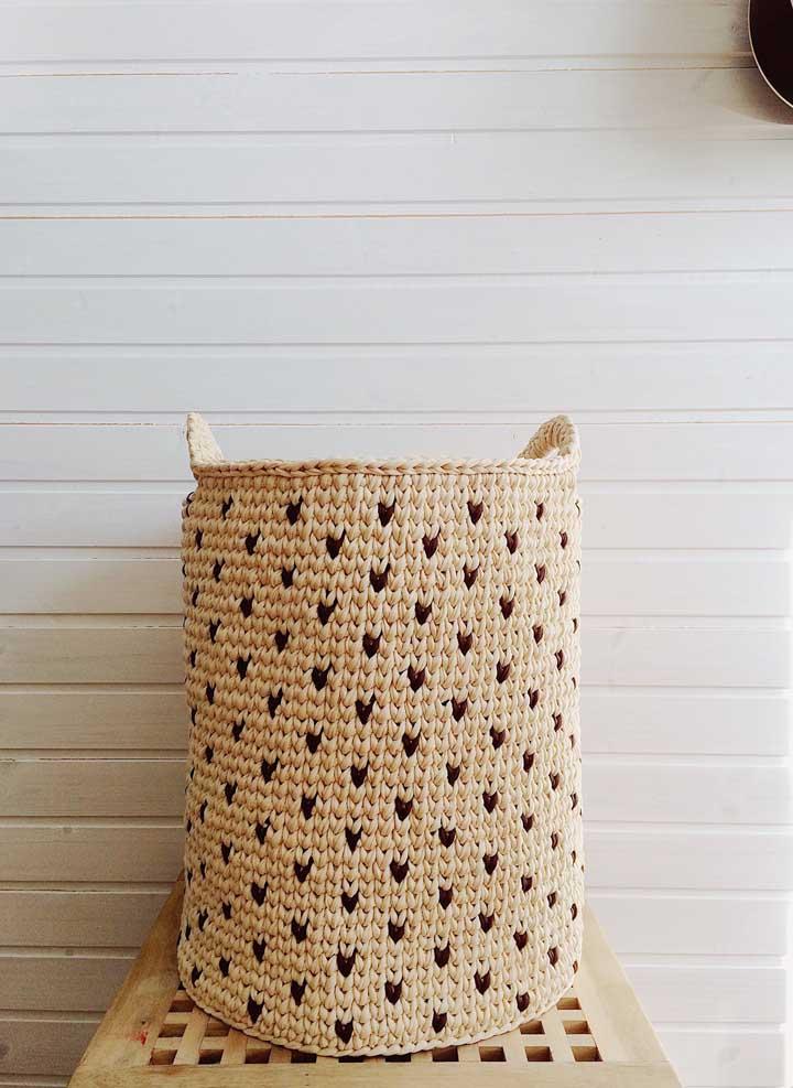 Não quer mais deixar seus trecos espalhados pela casa? Que tal investir em cestos de crochê?