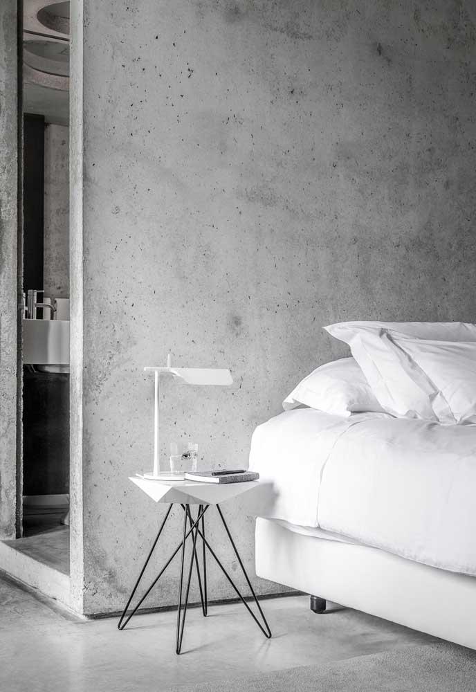 Use o cimento queimado para deixar seu quarto mais aconchegante e ao mesmo tempo com um aspecto mais sofisticado.