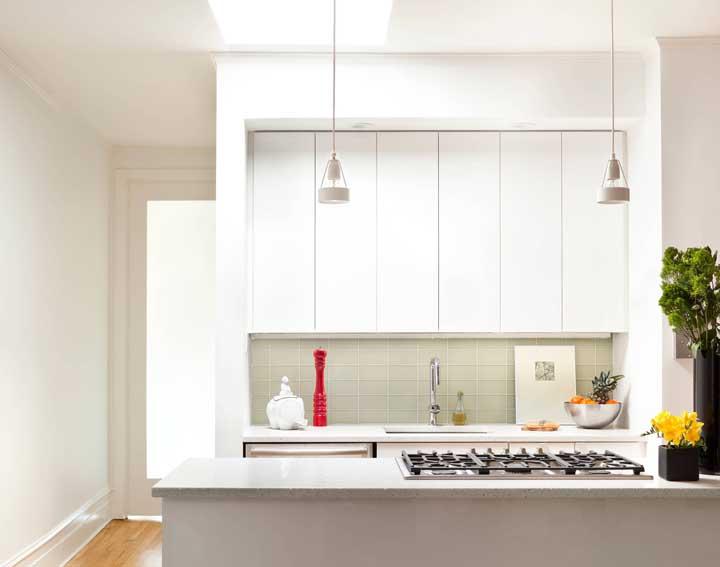 Cozinha de design clean, moderno e minimalista