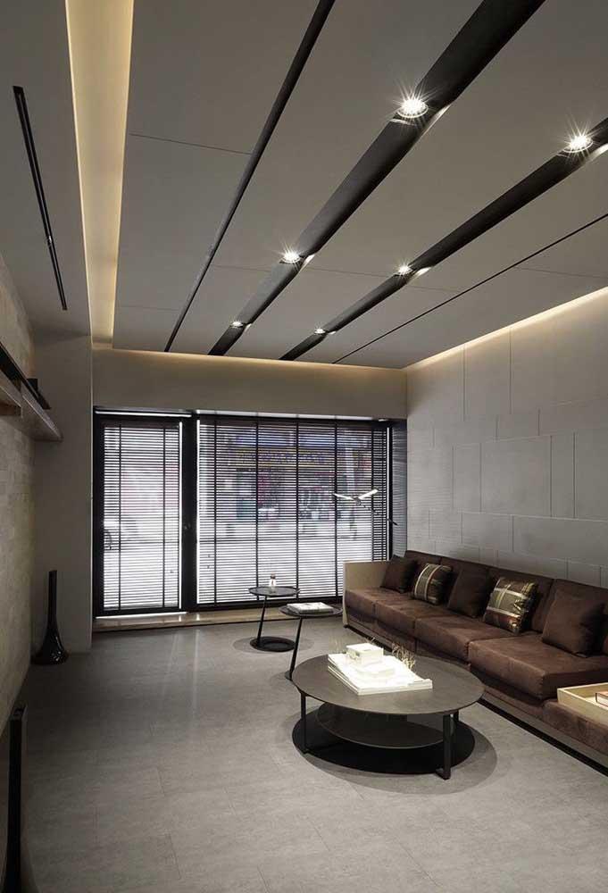 Iluminação e forro de gesso caminham juntos no projeto de interiores