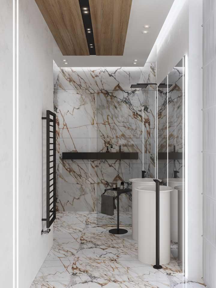 Forro de gesso no banheiro: basta o cuidado necessário e o uso está liberado