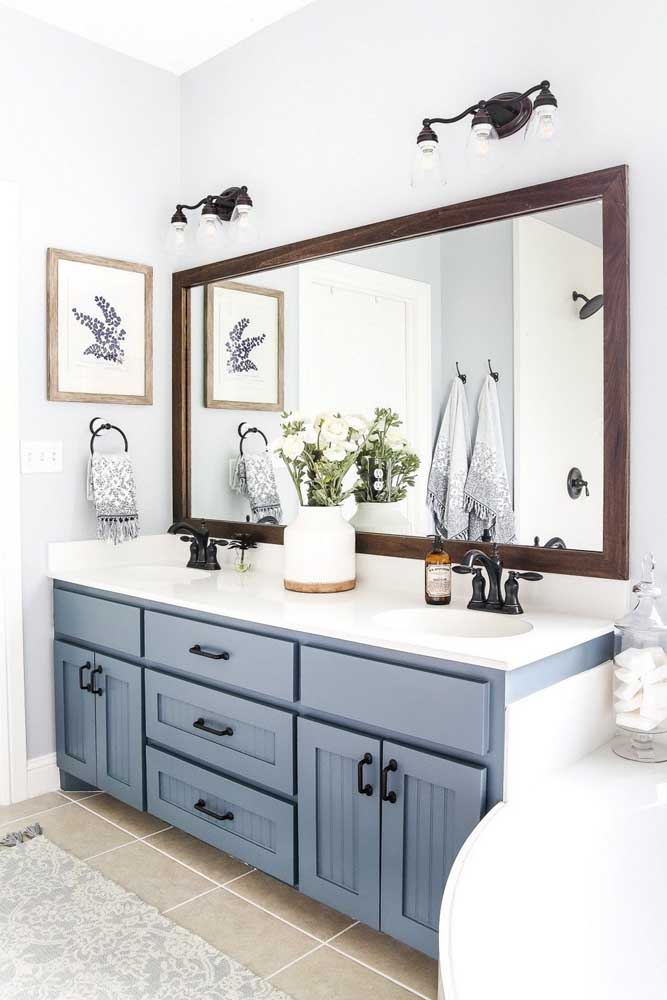 O gabinete de banheiro, sem dúvidas, faz toda a diferença no ambiente