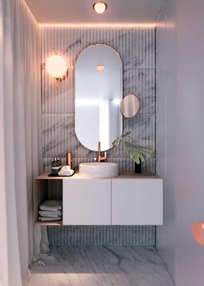 Simples e funcional como todo gabinete para banheiro deve ser