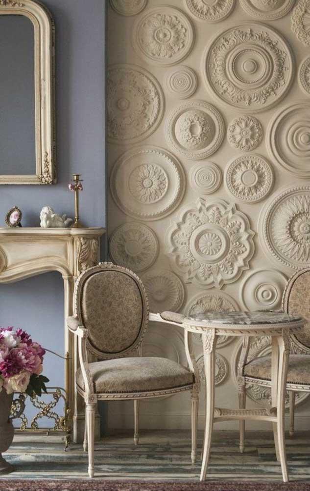 As mandalas criaram um visual muito interessante para a sala de estar clássica. É praticamente uma obra de arte
