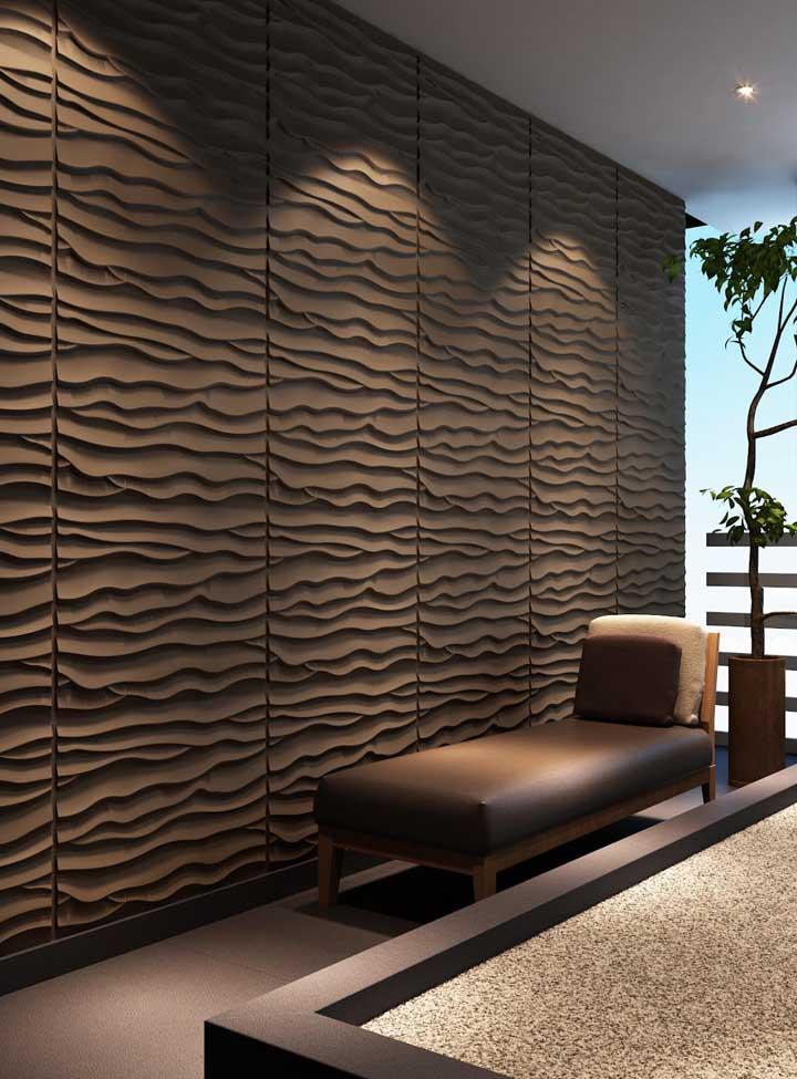 Placas de gesso 3D em ondas são um dos formatos mais procurados pelos consumidores
