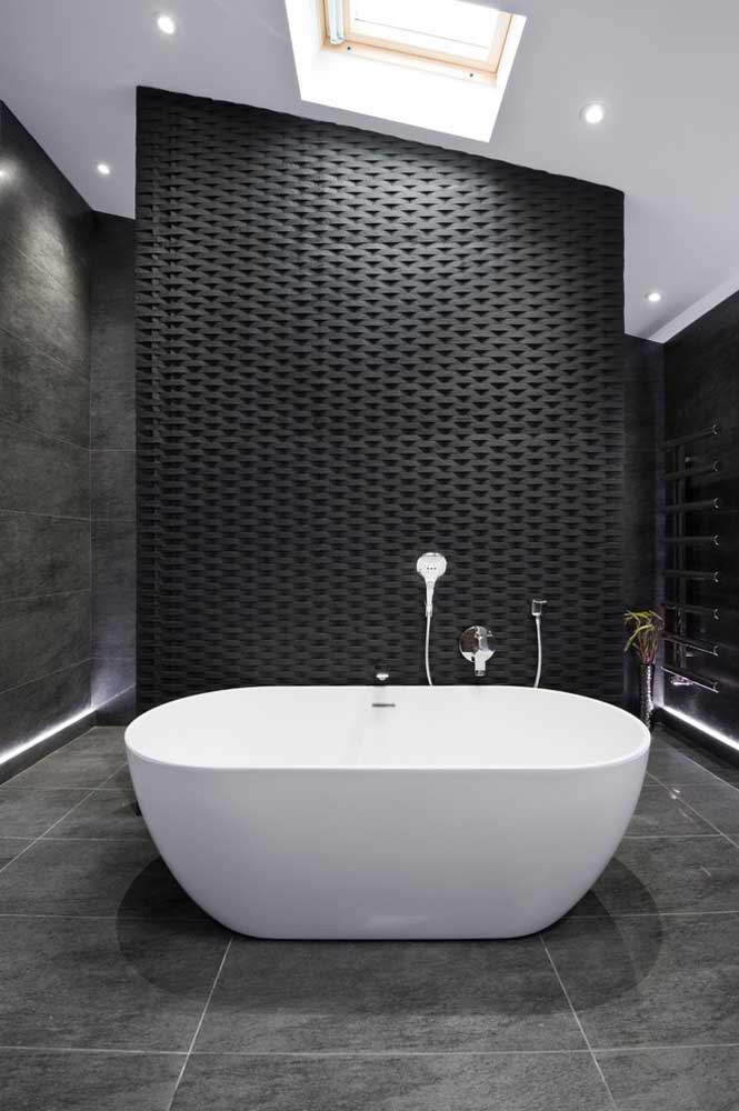 O gesso 3D também pode ser aplicado nos banheiros? Claro que pode, desde que receba um tratamento adequado