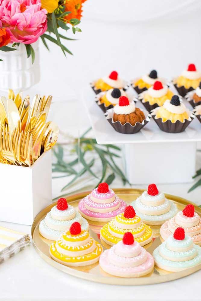 O visual dos doces é tão importante quanto o sabor deles.