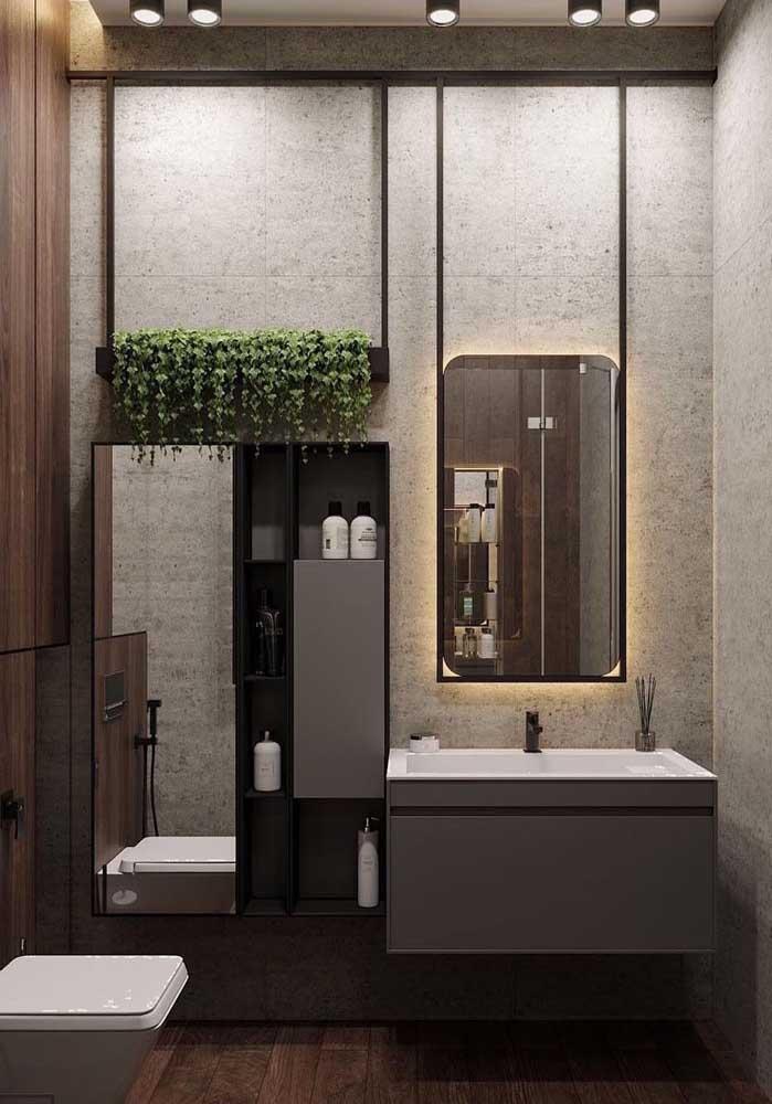 Não subestime a capacidade decorativa das plantas, elas podem fazer um bem danado para seu banheiro