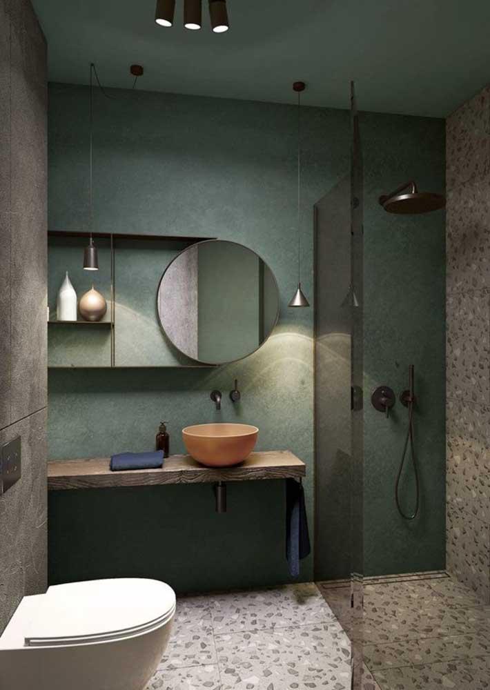 Aposte no rústico moderno para criar um banheiro de tirar o fôlego