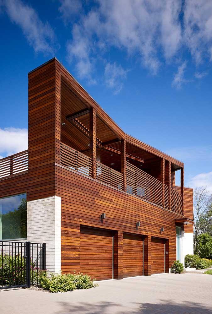 Os apaixonados por casas de madeira vão adorar esse modelo de casa em uma versão mais moderna