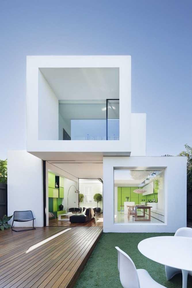 As linhas retas dessa casa traduzem a modernidade do projeto