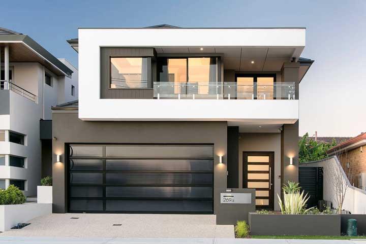Como aqui, nesse projeto moderno de casa