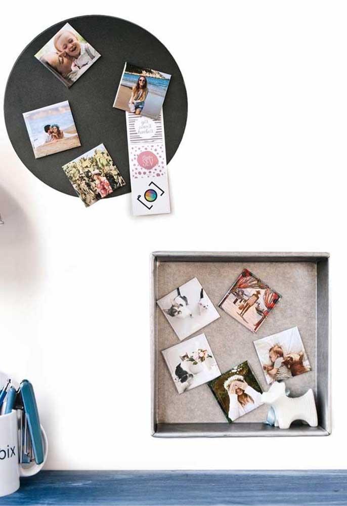 Ao invés de fazer apenas um painel de fotos, faça dois no formato e modelo diferentes.