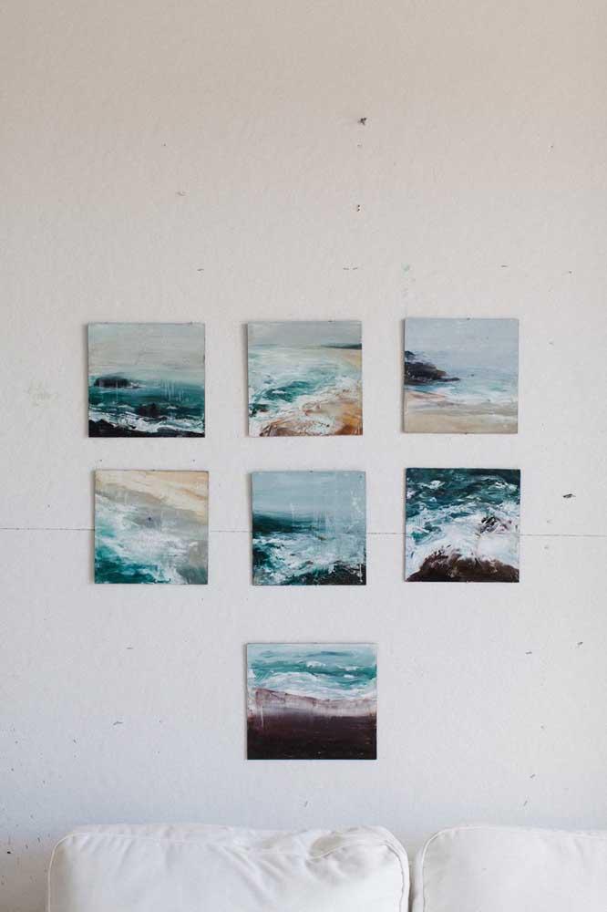 Que tal fazer um painel apenas com suas fotos mais inspiradoras?